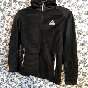Gerry- Youth Boy's Black/Ribbed Softshell Jacket